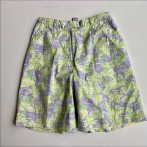 Lily Pulitzer fully lined cotton Bermuda shorts